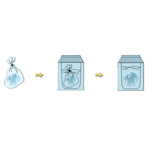 Suda Eriyebilen Enfekte Çamaşır Torbası